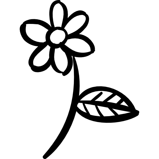 Flower png outline. Stem petals blossom icon