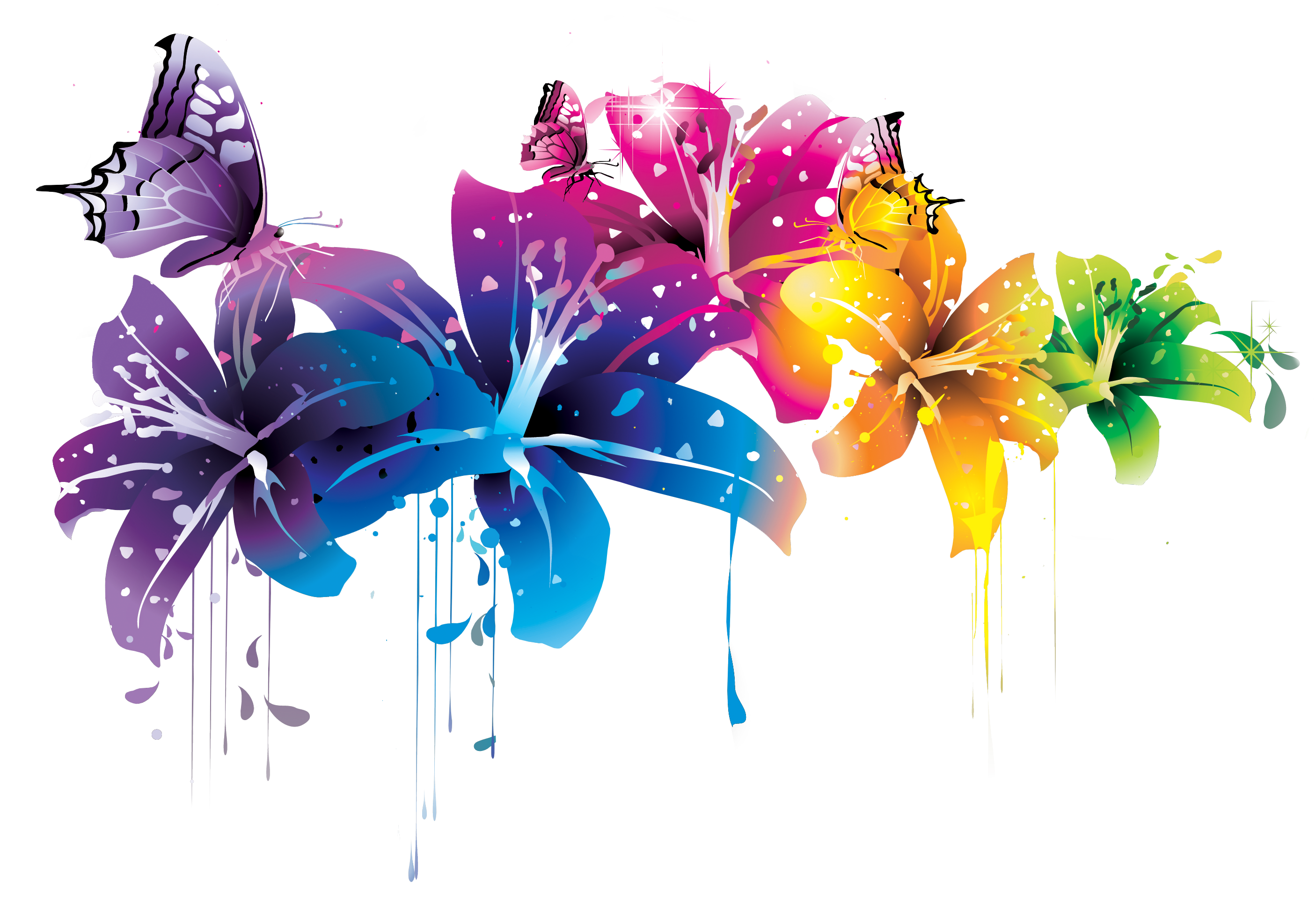 Flower png vector. Free download clip art
