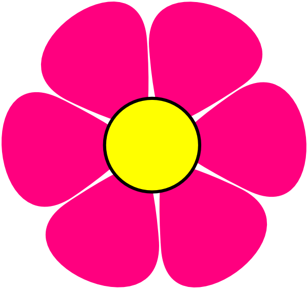 Flower power png. Pink clip art at