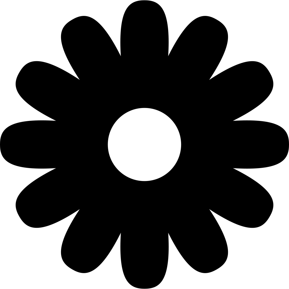 Flower shape png. Svg icon free download
