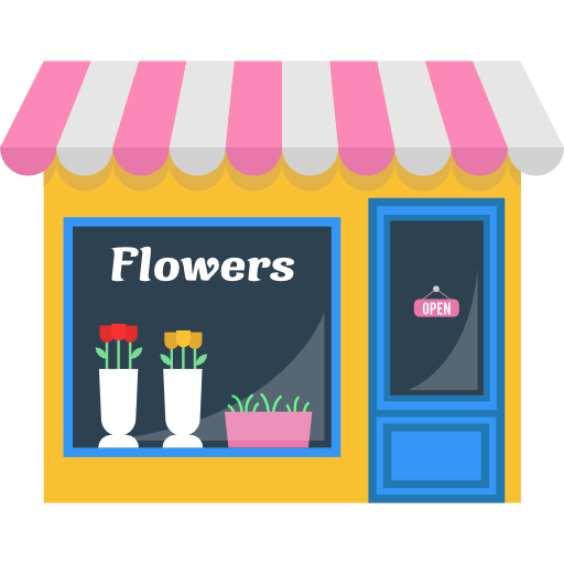 Flower shop png. Opened commerce buildings store