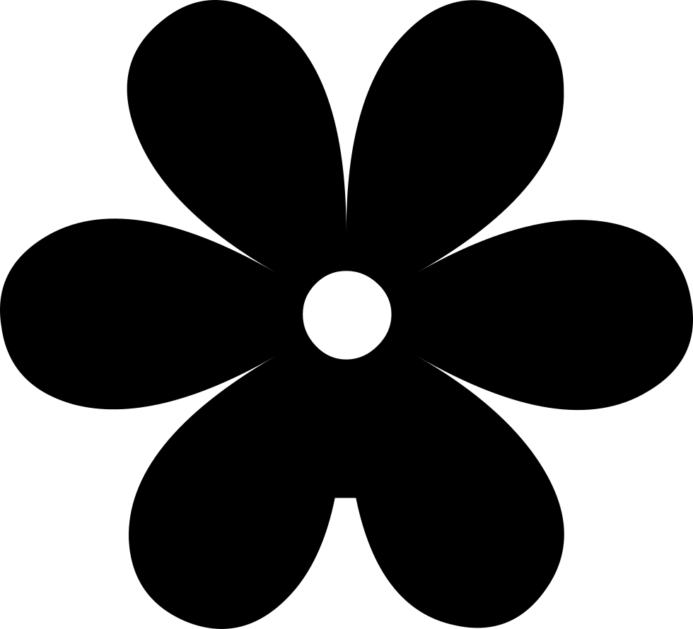 Flower silhouette png. Svg icon free download