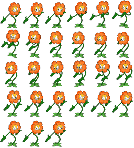 Flower sprite png. Image sheet cuphead roleplay