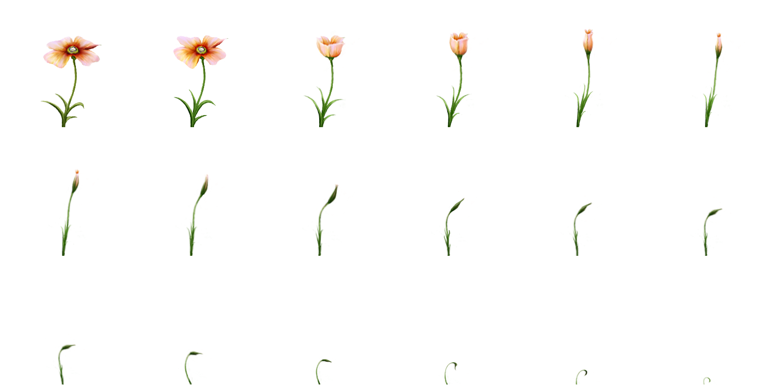 Flower sprite png. Rainy day plantpng