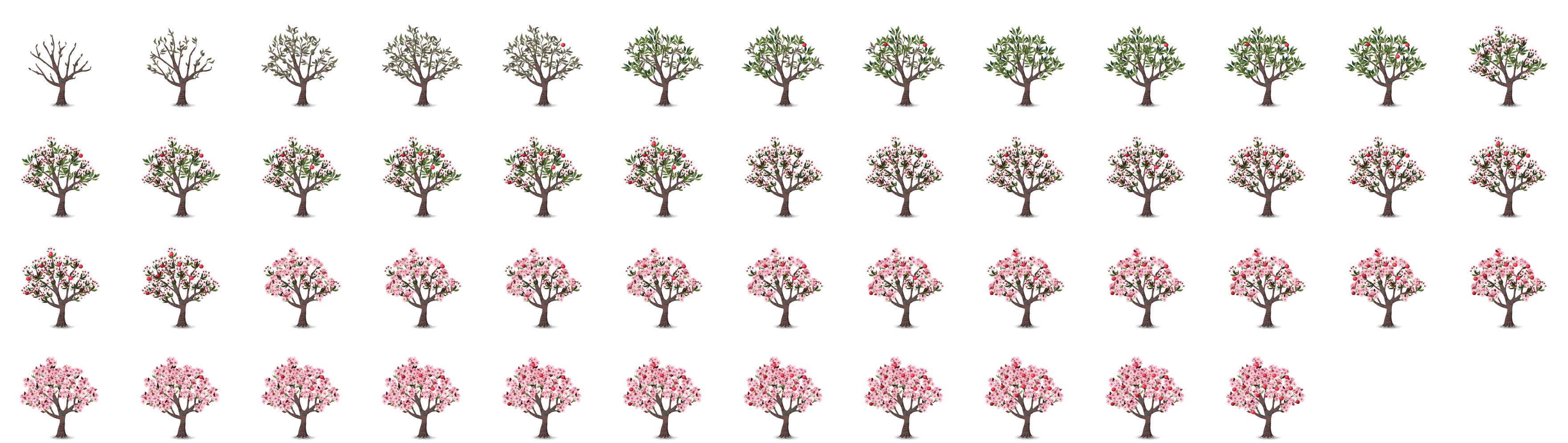 Flower sprite png. Fruit tree items glitch