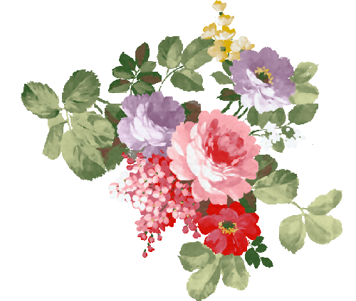 Flower sticker png. Flowers vintage by sof