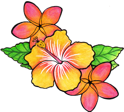 Flower tattoo png. Clipart image moana party