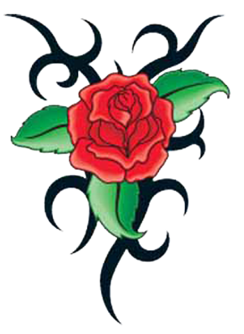 Flower tattoo png. Rose transparent images all