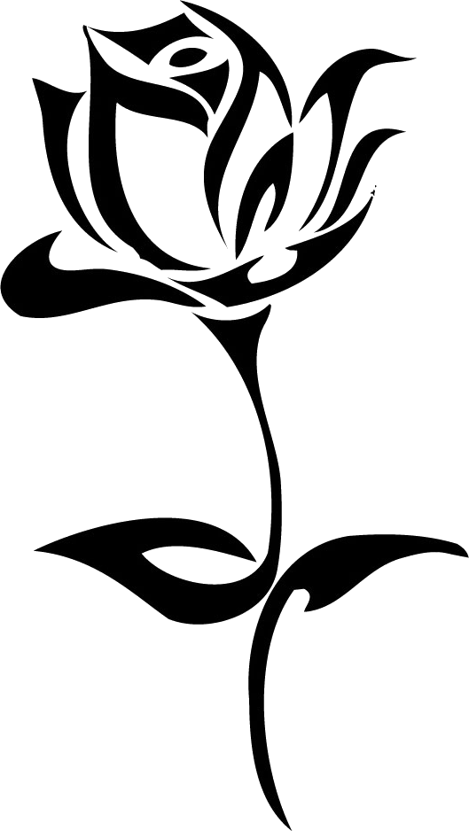 Flower tattoo png. Rose image pinterest silhouette