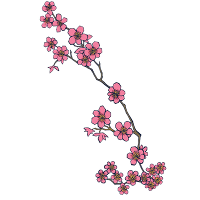 Flower tattoo png. Transparent stickpng japanese flowers