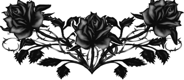 Flower tattoos png. Gothic transparent images all