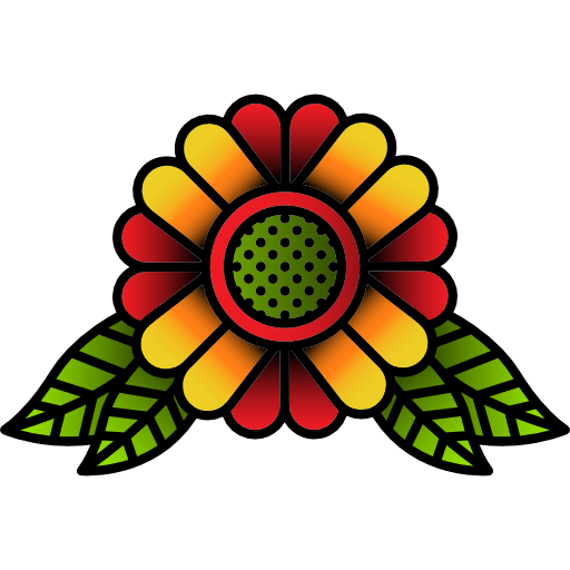 Flower tattoos png. Hipster old school nature