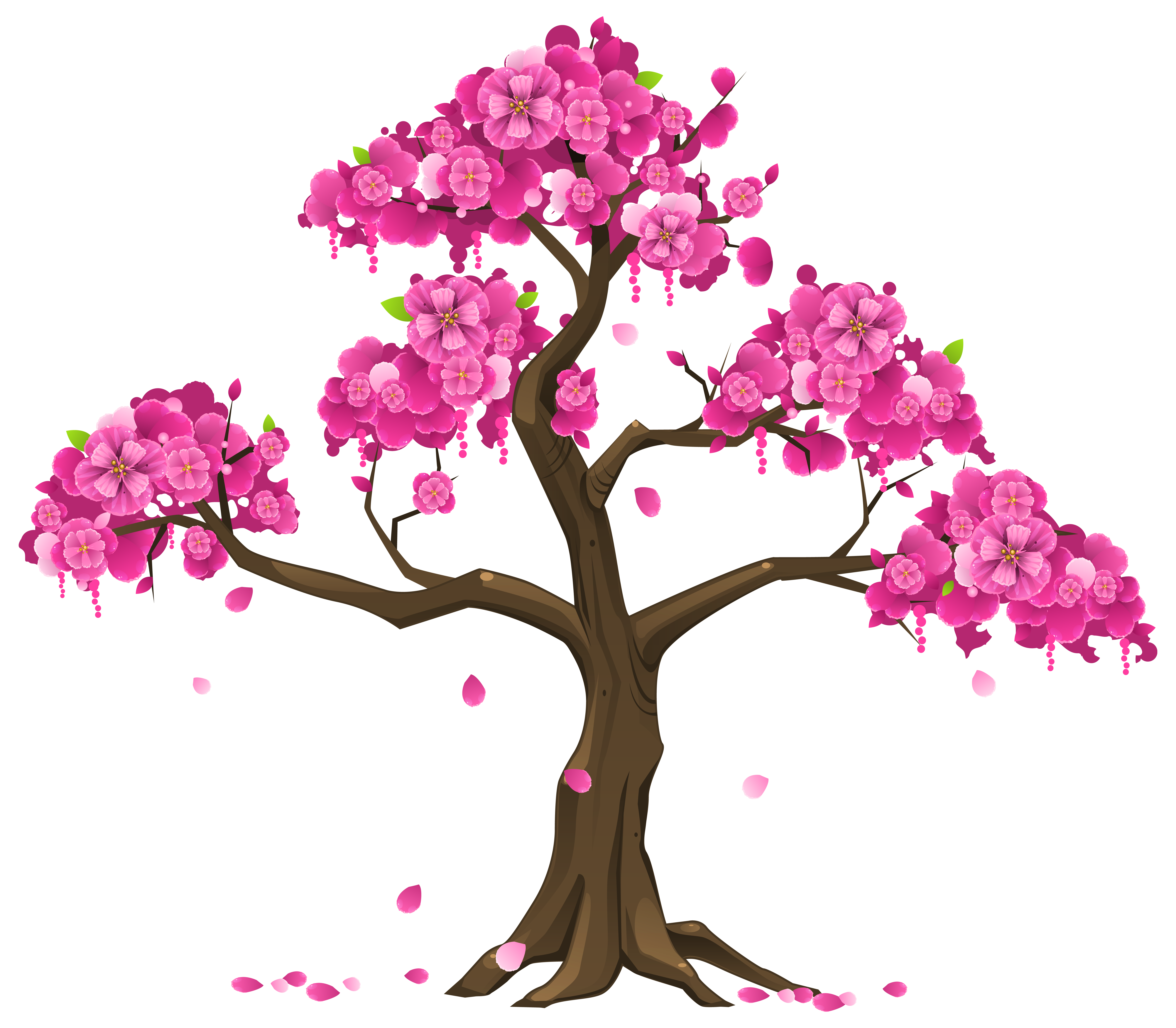 Flower tree png. Pink clipart image gallery