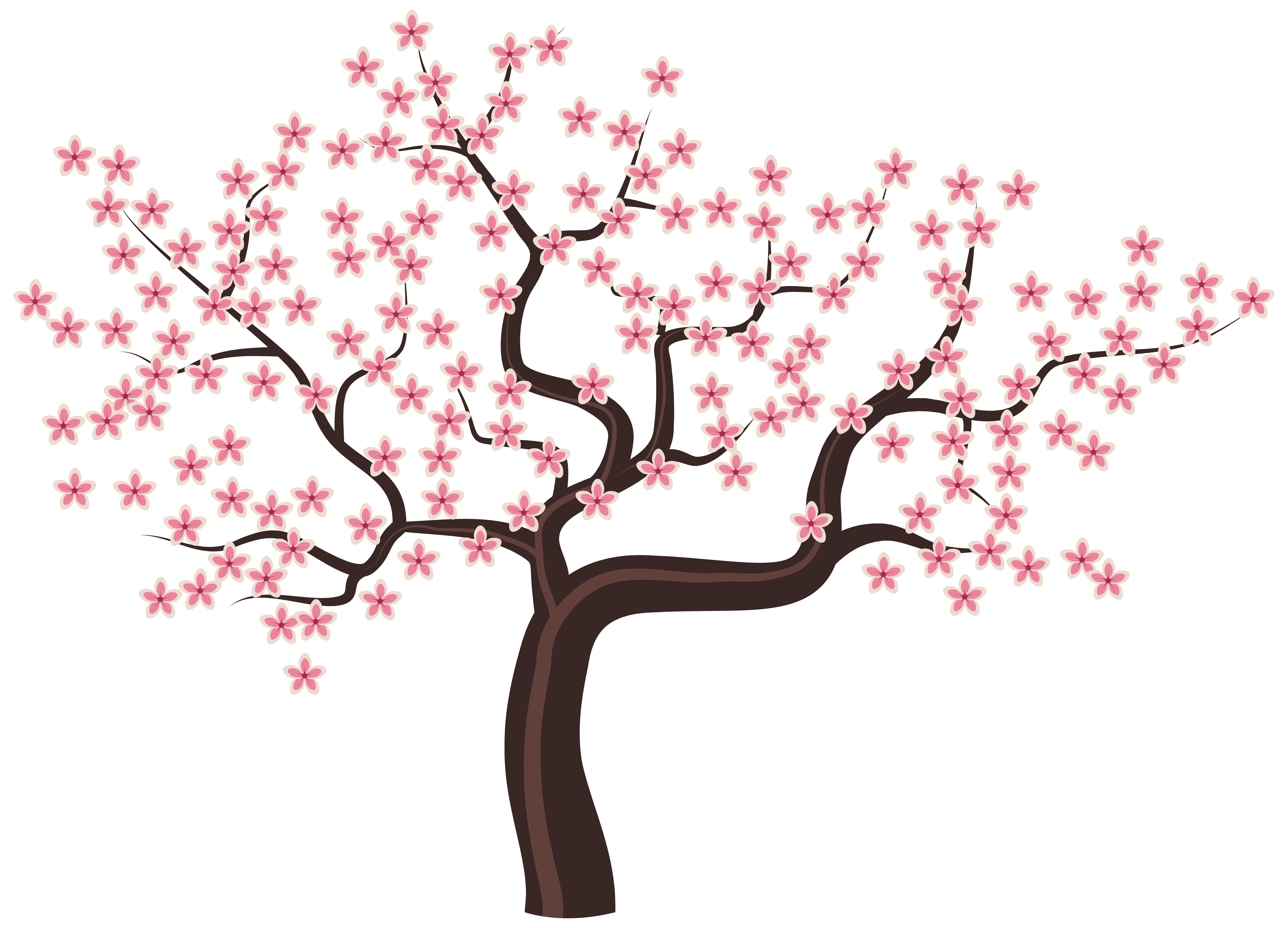 Flower trees png. Tree with flowers clipart