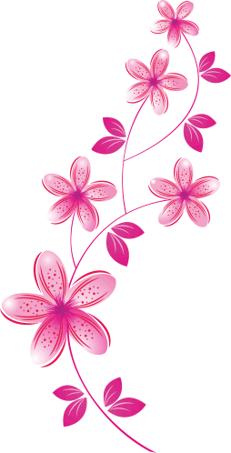 Pink flowers sticker tenstickers. Flower wall png image transparent stock