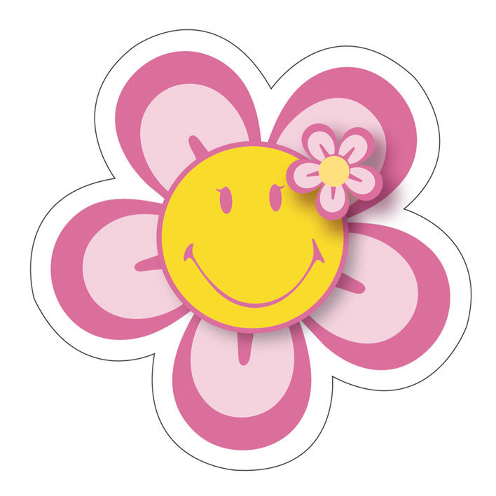 Flower with face. Free smiley cliparts download