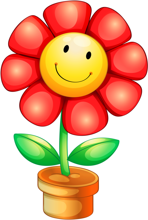 Flower with face. Hd png clip art