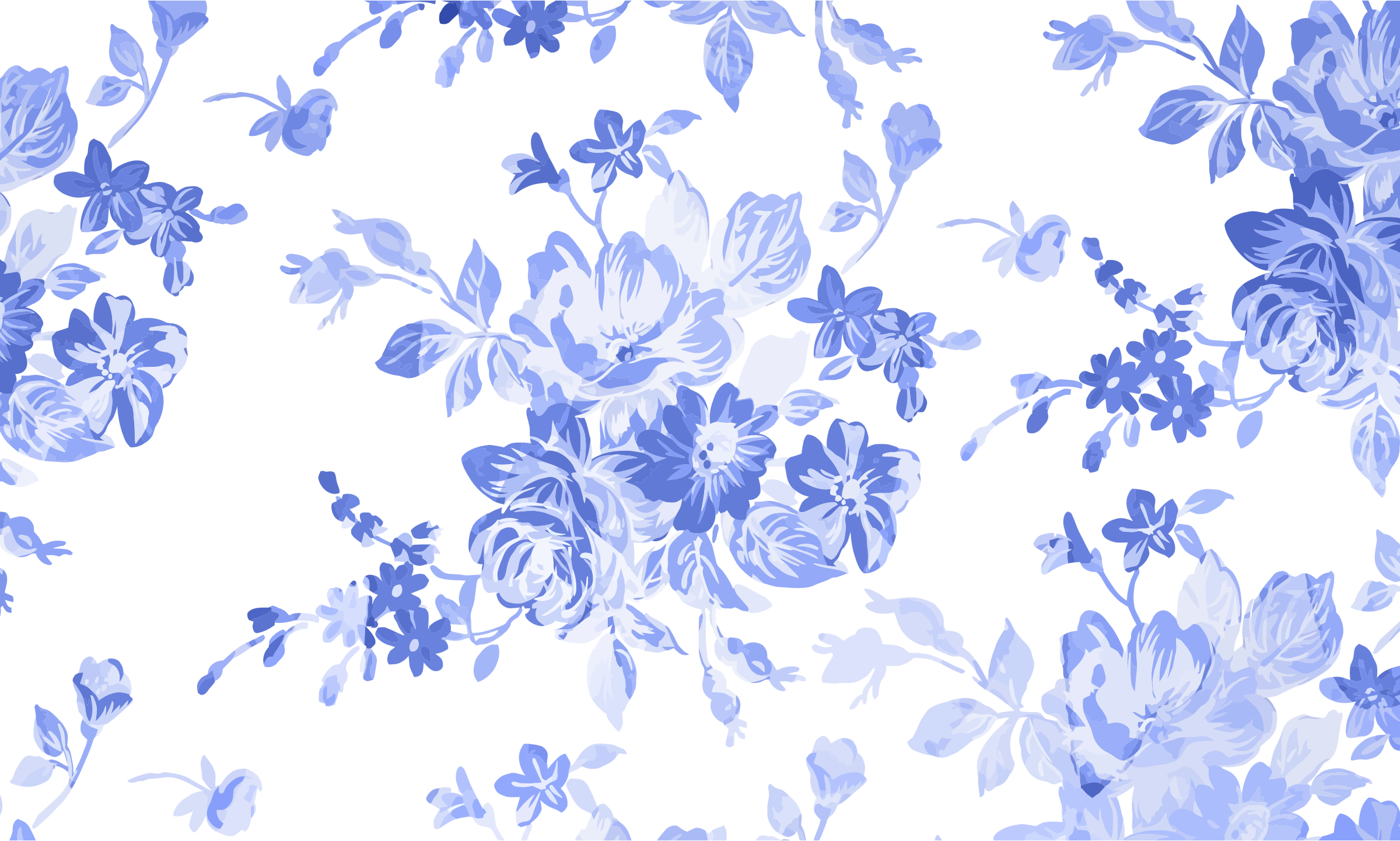 Blue floral watercolor icons. Flowers background png picture stock