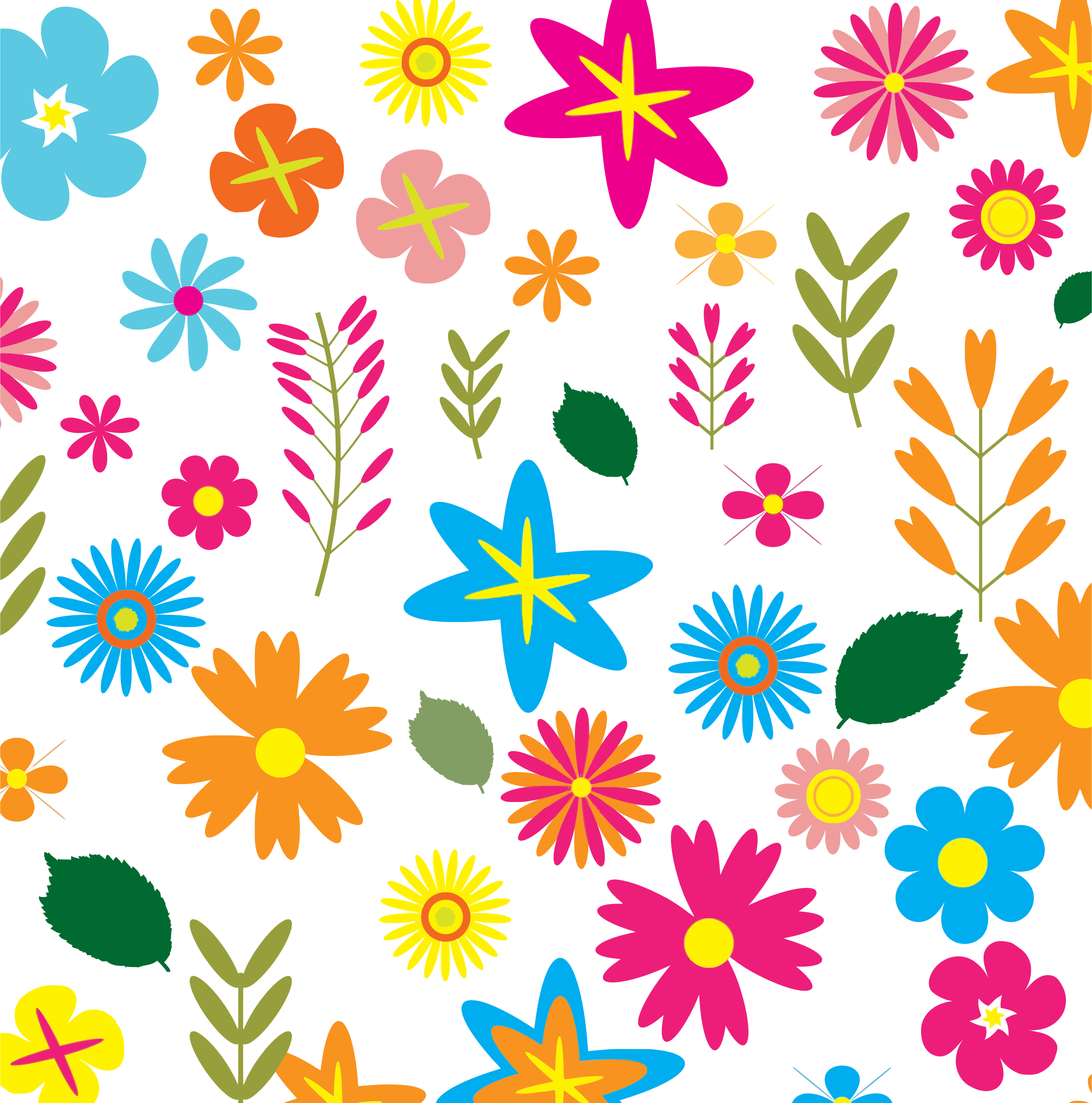 Flower patterns png. Clipart colorful floral pattern
