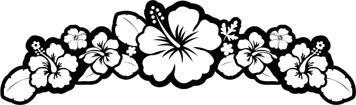 Flowers black and white png. Image flower hibiscus clipart