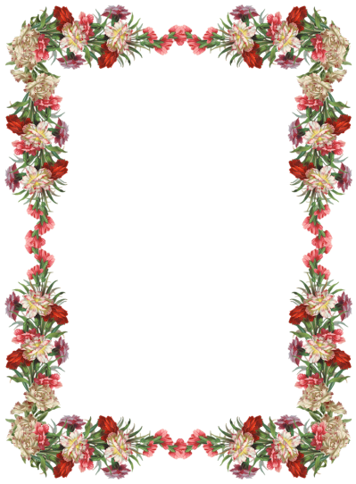 Flowers border png. Download borders free transparent