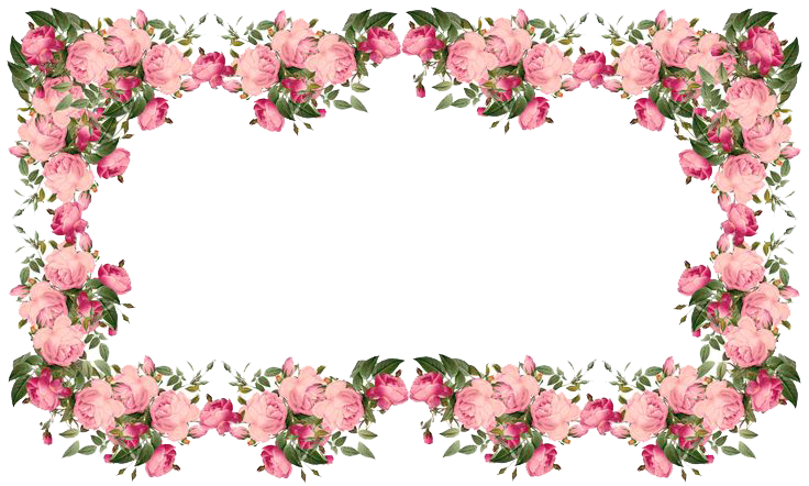 Flowers border png. Download borders transparent hq