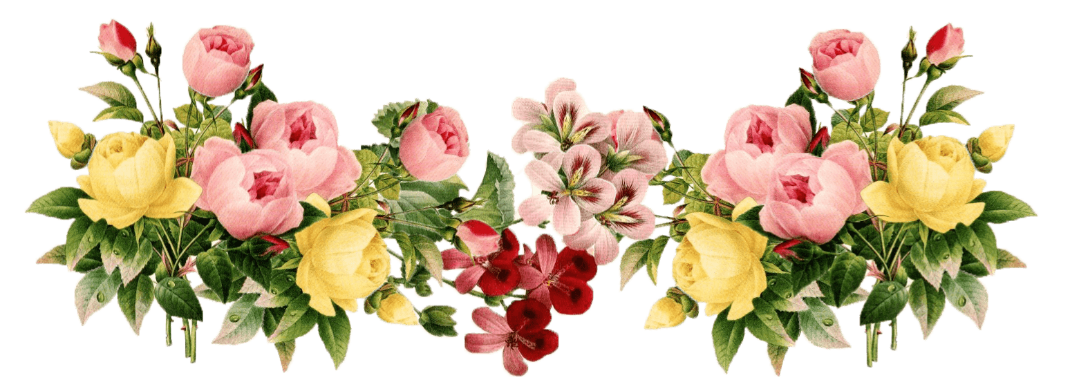 Flowers bouquet png transparent. Vintage group stickpng