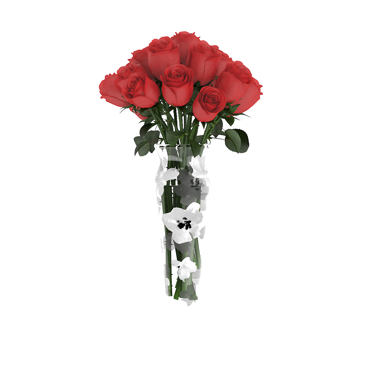Flowers bouquet png transparent. Garden roses vase flower