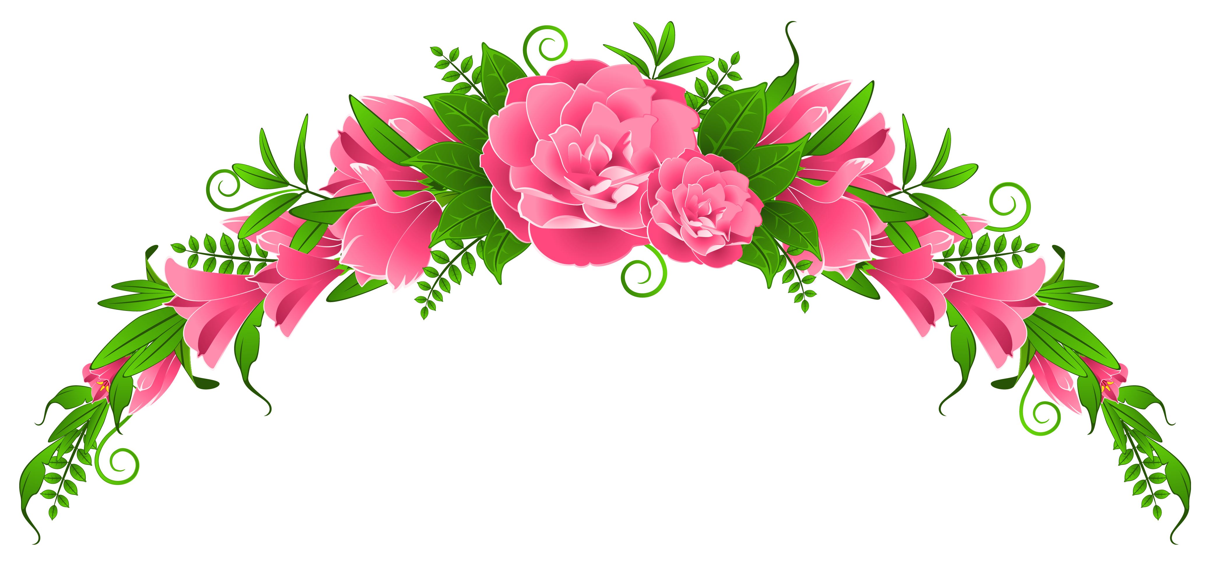 Png flowers. Pink and roses element