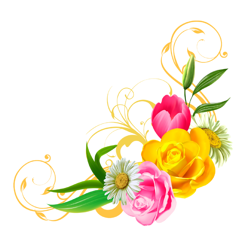 Clipart danielbentley ideas mnmgirls. Floral png banner free download