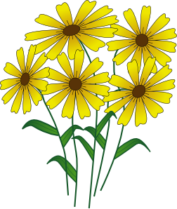 Row clipart row spring flower. Flowers clip art at