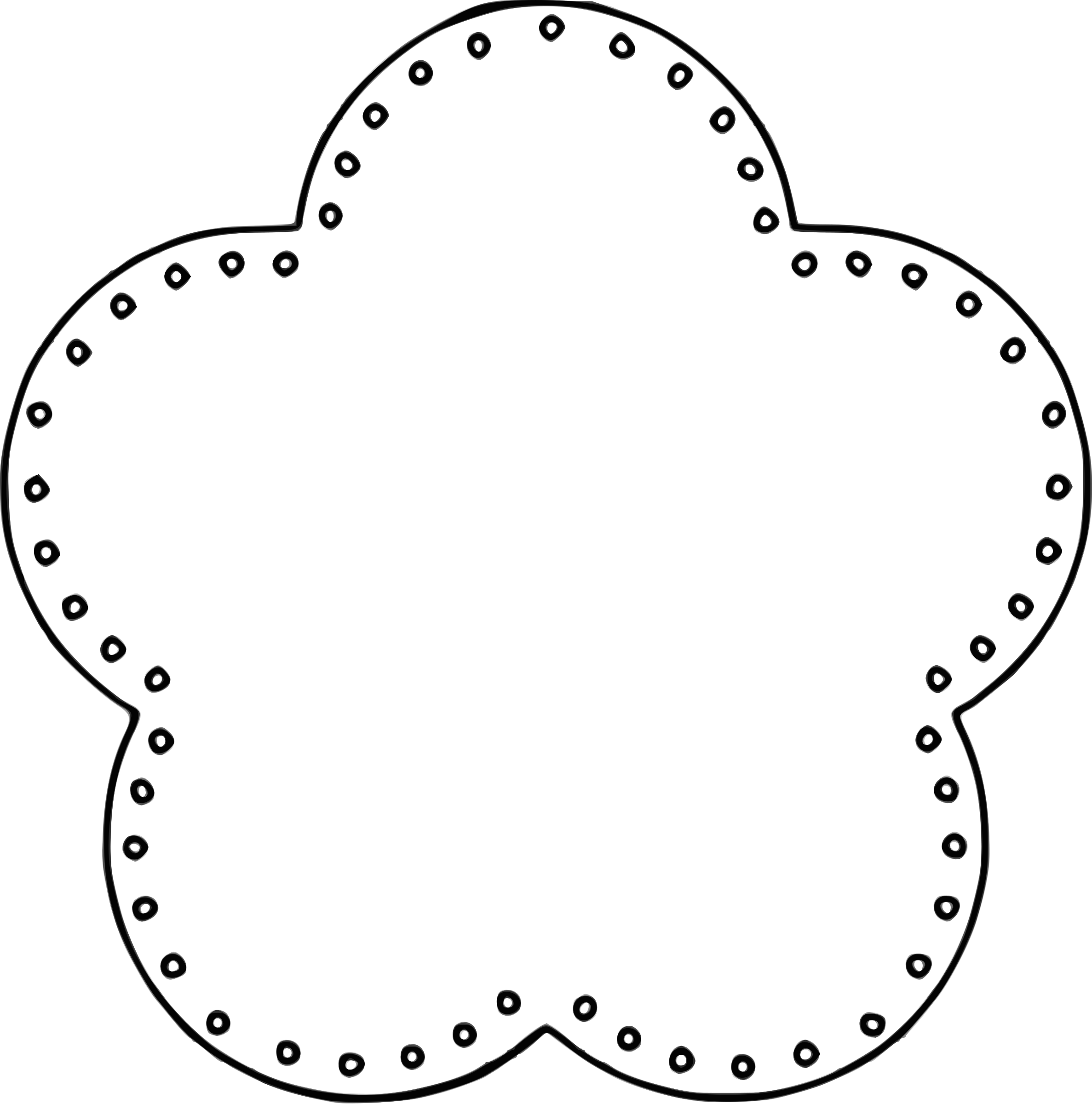 Flowers clipart circle. Flower scallop background eyelets