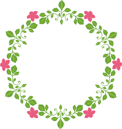 Flowers clipart circle. Flower clipground