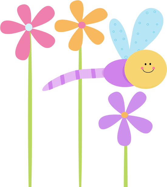 Flowers clipart dragonfly. Dragonflies and