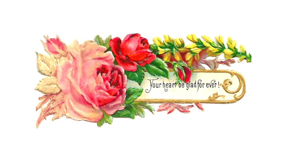 Flowers clipart label. Free victorian rose pictures