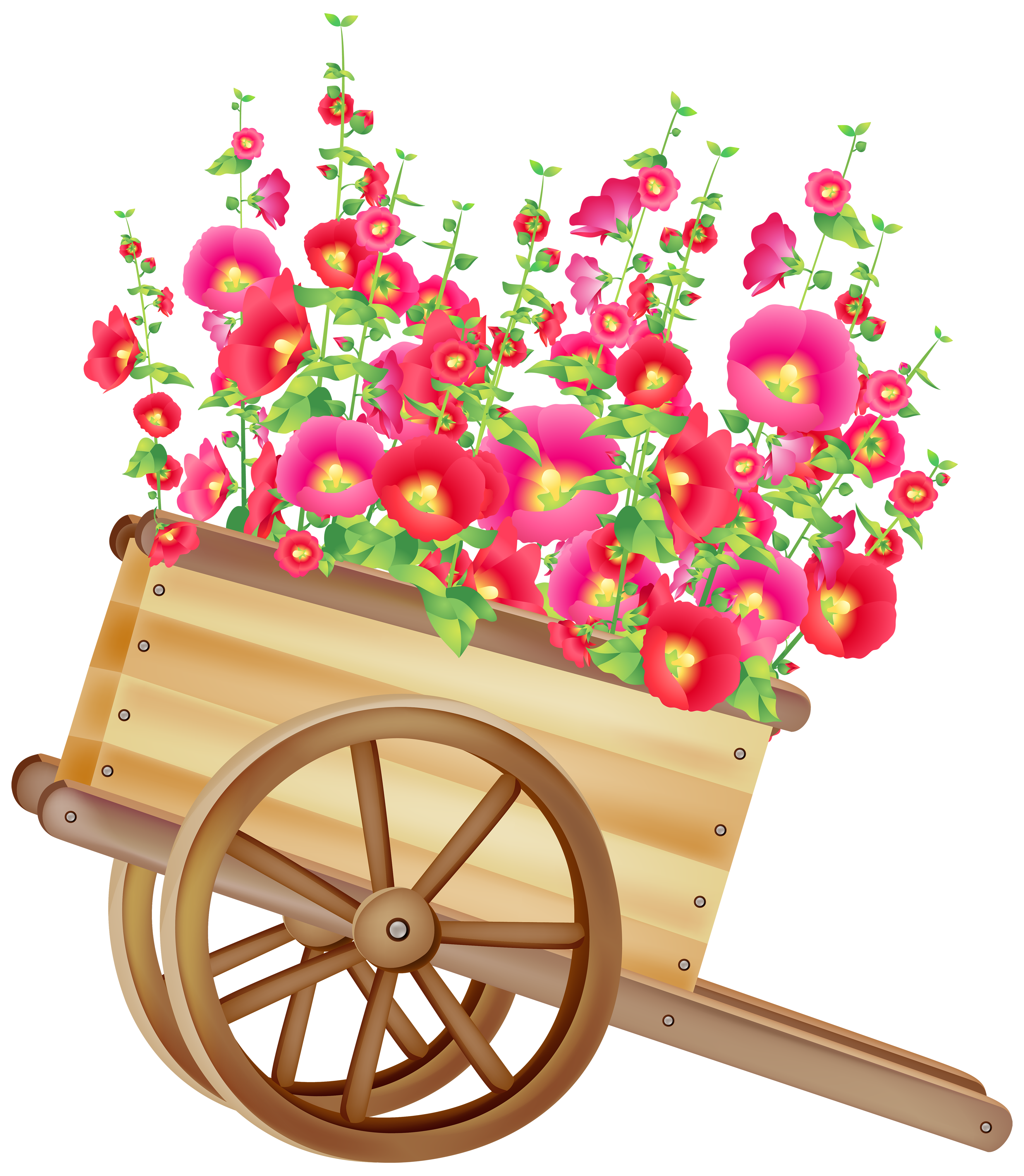 Flowers clipart png. Wheelbarrow with best web