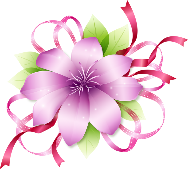 Flowers clipart png. Pink flower gallery yopriceville
