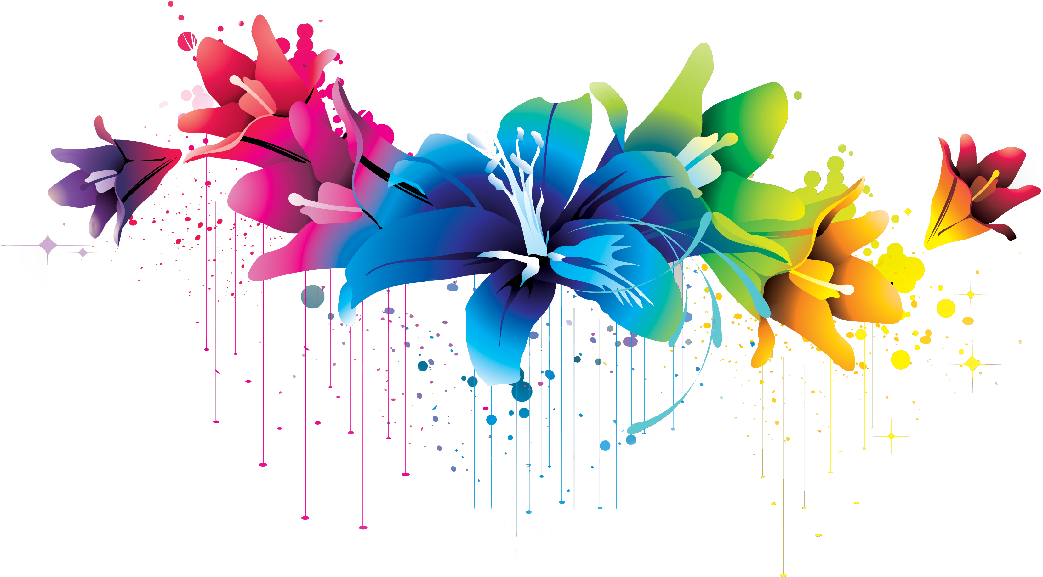 Flower clipart png by. Colorful vector vector freeuse stock