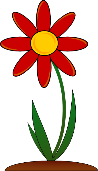 Flowers clipart root. Flower with roots panda
