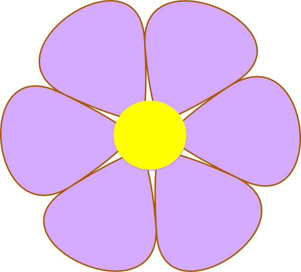 Flowers clipart shape. Basic flower at getdrawings