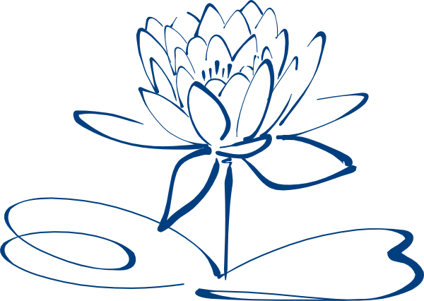 Flower png outline. Lotus blue clip art