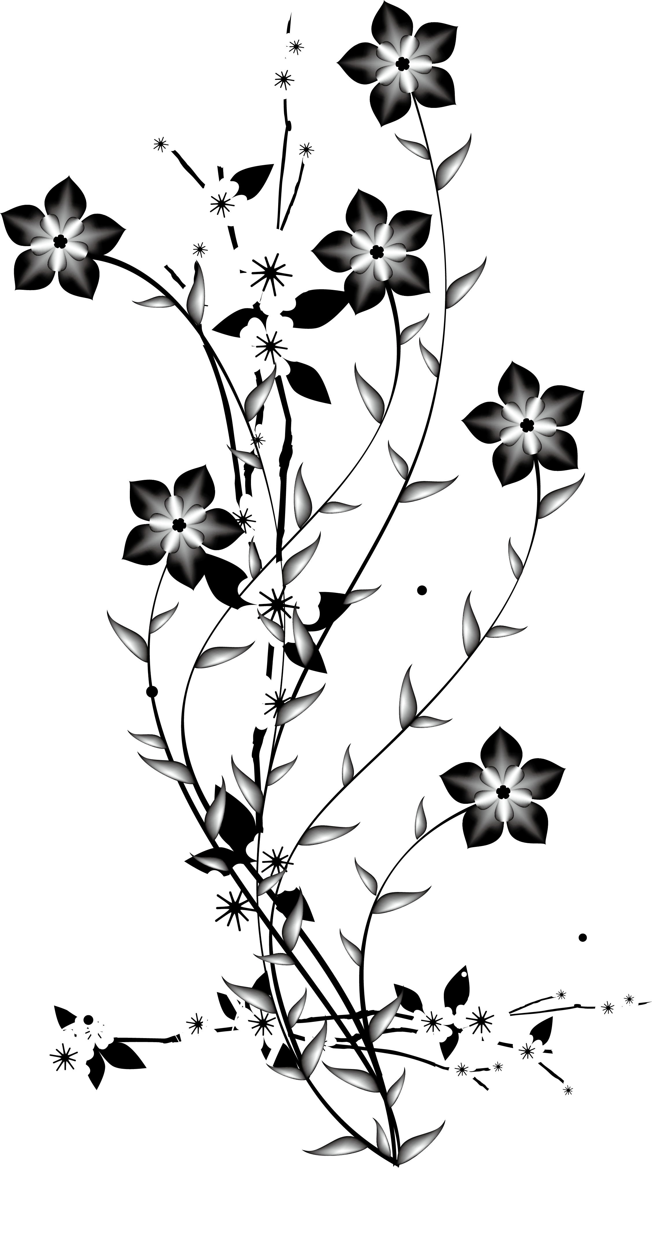 Flowers png black and white. China japan flower euclidean