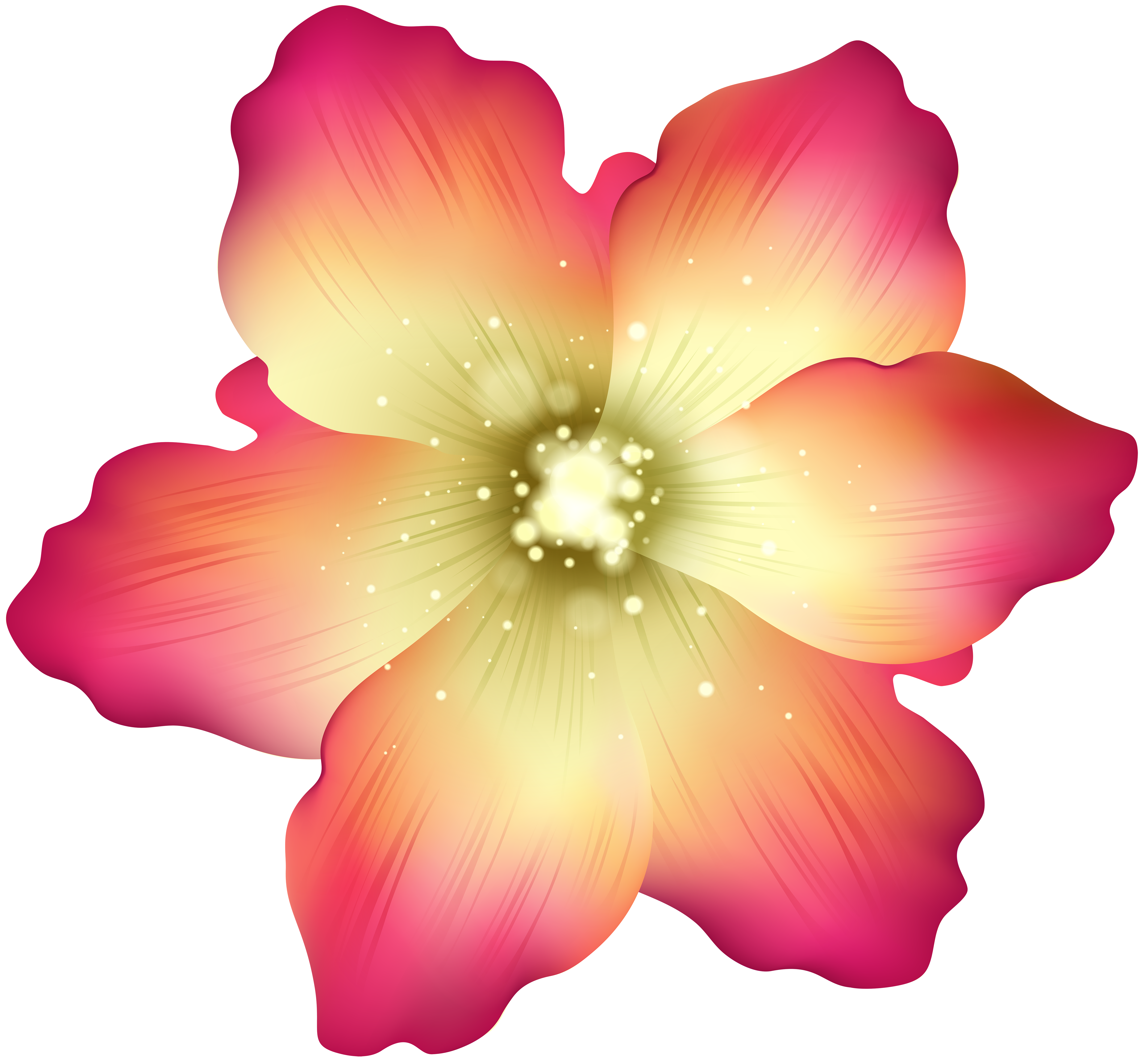 Deco flower clip art. Flowers png transparent black and white stock
