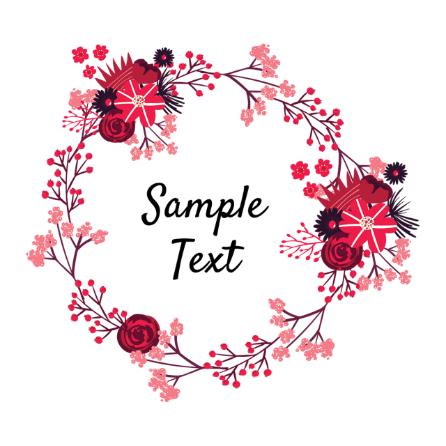 Vintage flowers wreath frames. Flores vector png svg freeuse library
