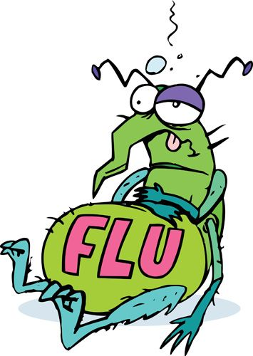 Flu clipart old. Bug cartoons free and