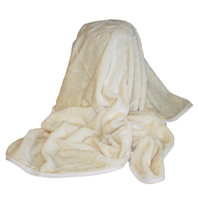 Fluffy blanket png. Faux fur throw cream
