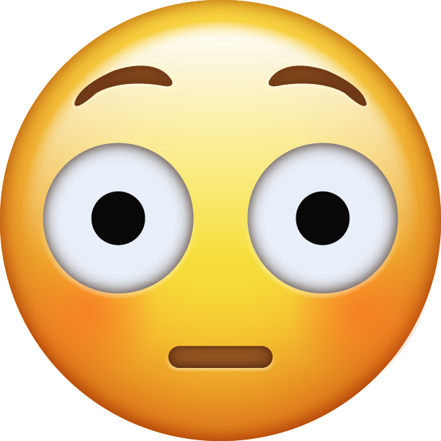 Flushed face emoji png. Download iconiphone icon in
