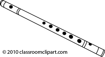 Flute clipart outline. Drawn pencil and in
