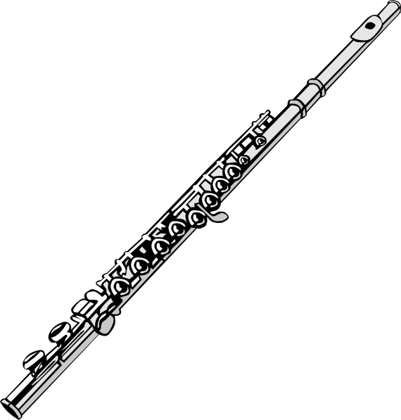 Flute clipart outline. Fluted pencil and in