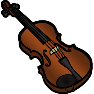 Fiddle drawing cute. Free music graphics stepwise